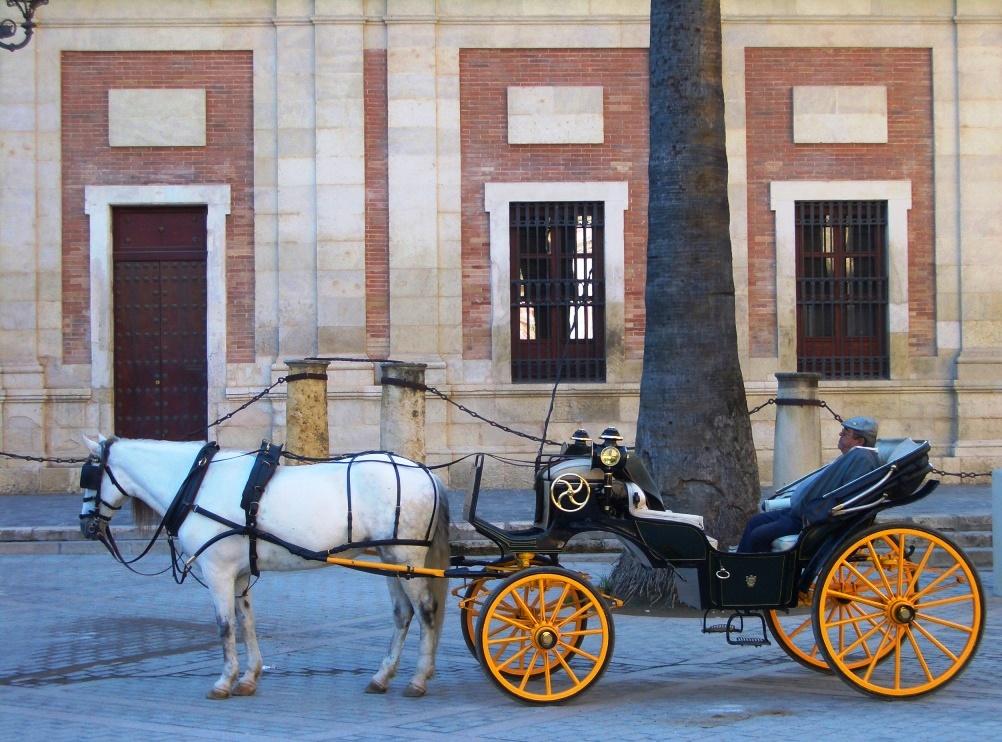 Méditerranée musulman omeyyade Andalus reconquista Andalousie Andalucia Guadalquivir Cordoue Séville Mezquita L'heure de la siesta en attendant les touristes au coeur de Cordoue