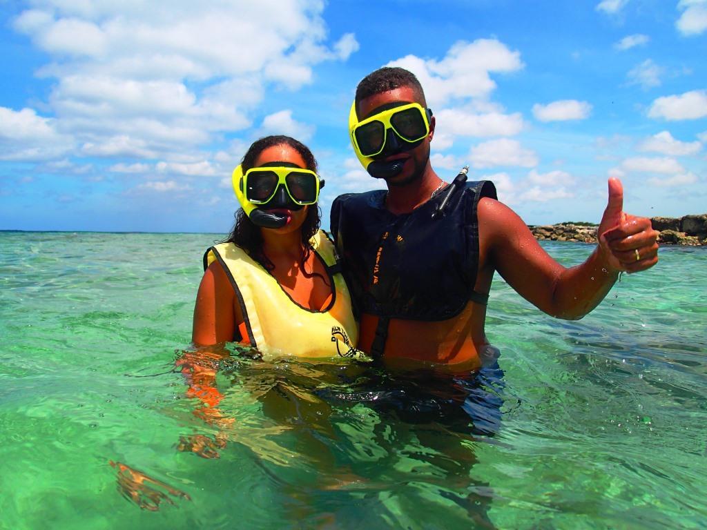 Caraïbes Antilles néerlandaises plage snorkeling Aruba A Aruba on a passé beaucoup de temps dans l'eau