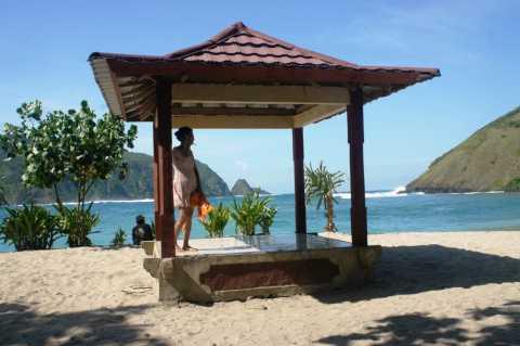 Indonésie Sur une des plages paradisiaques de Lombok, une île indonésienne à l'Est de Bali.