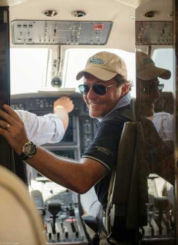 Akilanga Afrique du Sud tourisme voyageur agence de voyages réceptif André Laget est un fan d'aviation et d'avions et prnd lui-même des cours de pilotage