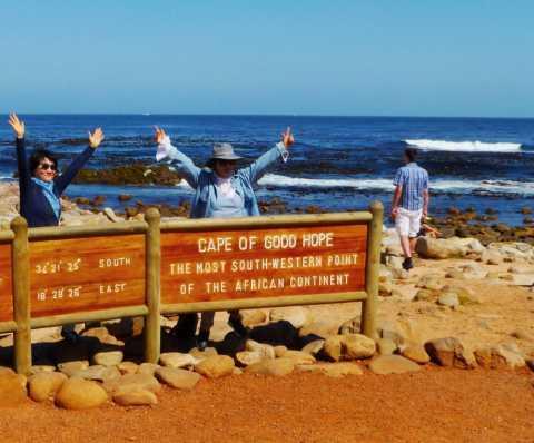 Le Cap de Bonne Espérance, un des objectifs de ce voyage plein soleil