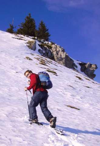 Julien Buot en randonnée aux Monts Jura