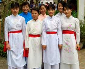 Journée de la femme Asie du Sud-est vietnam courage femmes women travailleuses Un groupe de femmes au Nord Vietnam