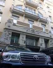 """Pays baltes Lettonie art nouveau Riga architecture Une des façades """"art nouveau"""" du coeur ancien et riche de la ville de Riga"""