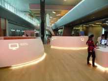 Qatar Doha aéroport Couleurs et ambiance soft