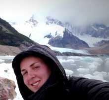 """Astrid, auteur du blog """"histoires de tongs"""" au mont Fitz Roy en Argentine"""