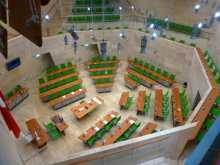 Europé Journée de l'Europe L'hémicycle du Parlement de Malte, le plus petit des 28 pays de l'Union européenne