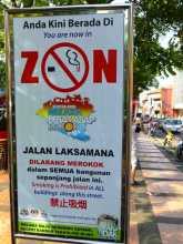 tabac tabagisme anti-tabac OMS journée mondiale sans tabac L'entrée dans une zone non-fumeur à Malacca en Malaisie