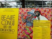 """peinture art L'entrée de l'exposition """"Beauté Congo"""" à la Fondation Cartier à Paris"""
