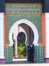 Maroc La porte d'entrée de La Mamounia à Marrakech