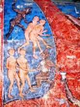 Une des scènes de l'église peinte du monastère de Moldovita