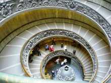 Vatican Rome Le fameux escalier hélicoïdal du musée