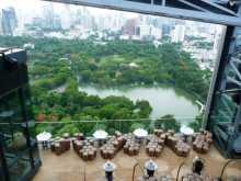 Thïlande Bangkok hôtel Une vue du sommet de So Sofitel à Bangkok
