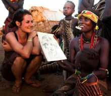 L'échange et la rencontre sont au cœur de la démarche de Stéphanie Ledoux, carnettiste globe-trotteuse. Photo Stéphanie Ledoux